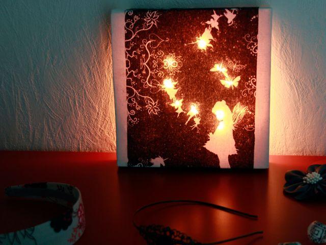 fabriquez vos tableaux lumineux les ateliers de mireiales ateliers de mireia diy tutoriels. Black Bedroom Furniture Sets. Home Design Ideas