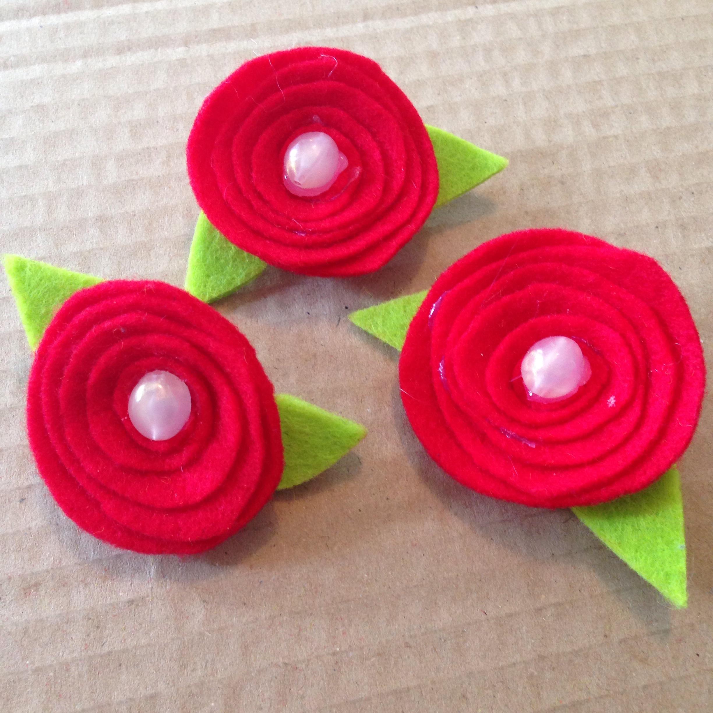 DIY fleurs mariage feutrine