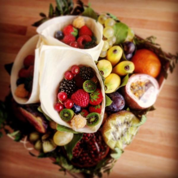 La corbeille de fruits déballée