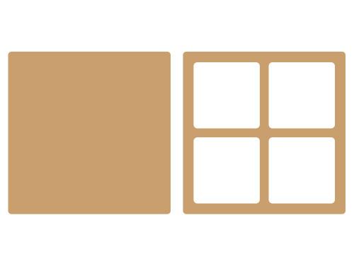 cadre 4 cases en bois