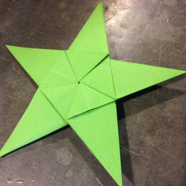 Etoile origami papier PEFC