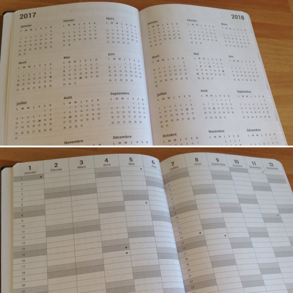 Planners annuels Agenda personnalisable My365
