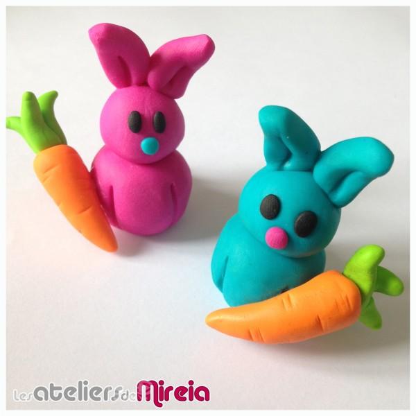 Modelage Fimo Kids Pâques lapin