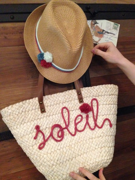 Chapeau panier customisation tricotin