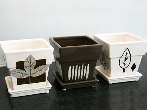 DIY décoration de pots pour plantes vertes