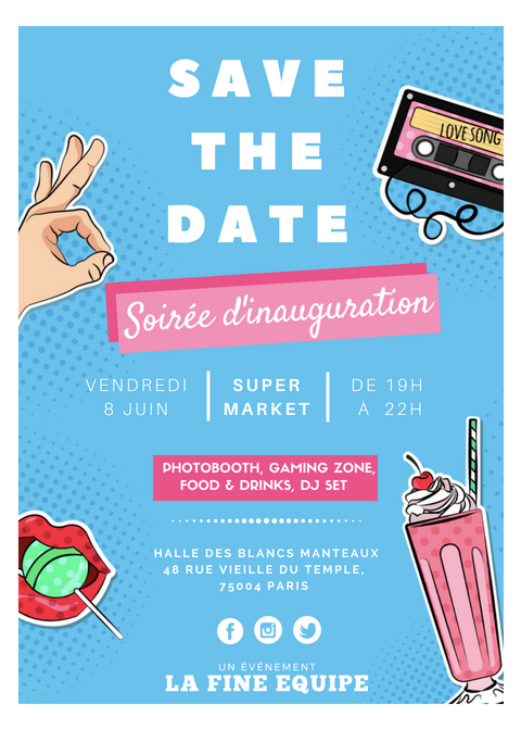 save the date supermarket