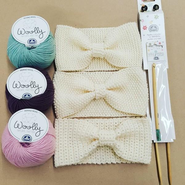 headband wooly DMC tricot crochet