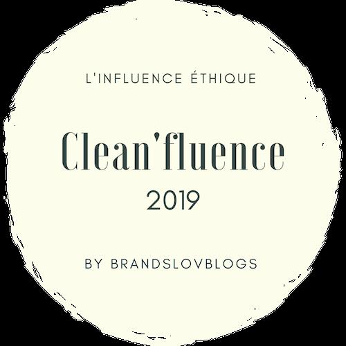 L'influence éthique Clean' Influence 2019 by Brandslovblogs