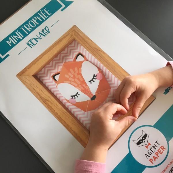 Mini trophée renard Agent Paper