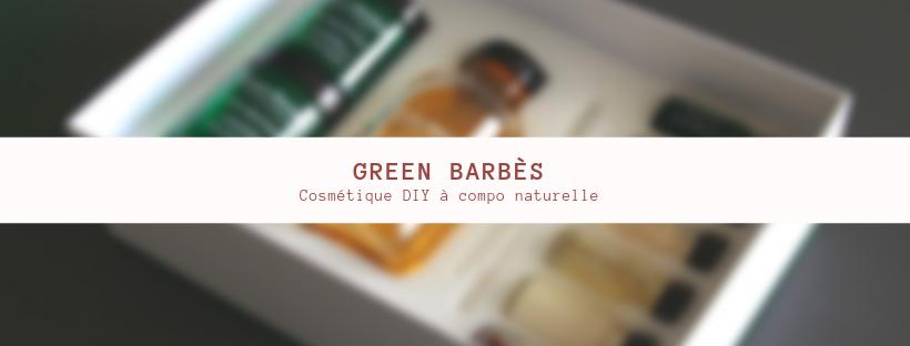 Green Barbès kit cosmétique DIY