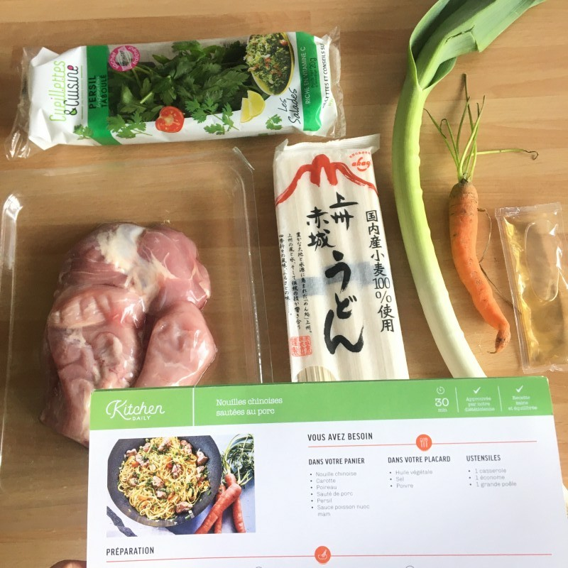 Panier-repas Kitchendaily nouilles chinoises