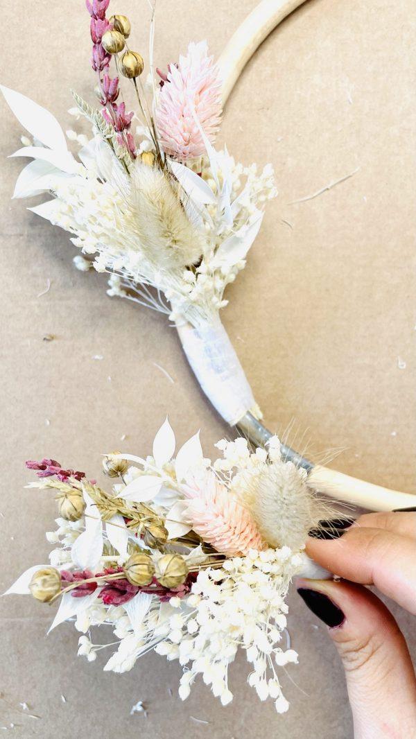 Couronne de fleurs séchées Flowrette